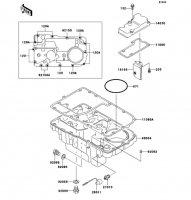ブリーザカバー/オイルパン ZEPHYR 1100 1992(ZR1100-A1) - Kawasaki純正部品