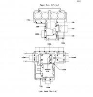 クランクケースボルトパターン ZEPHYR 1100 1992(ZR1100-A1) - Kawasaki純正部品