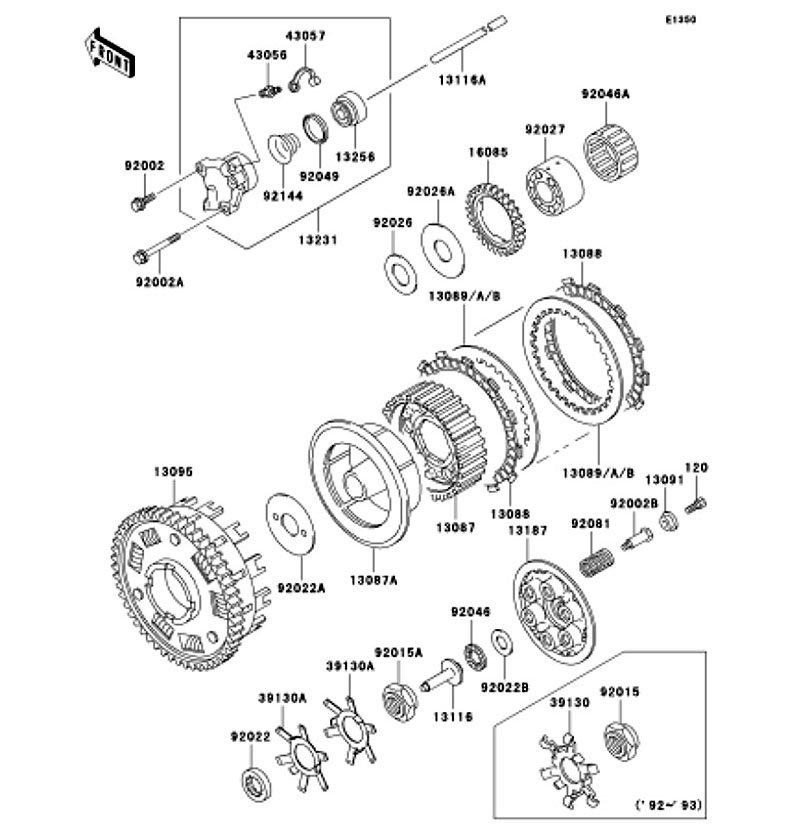 ZEPHYR 1100 1992(ZR1100-A1) 純正クラッチ / ZEPHYR 1100