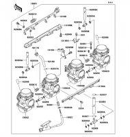 キャブレタ ZEPHYR(400) 1989(ZR400-C1) - Kawasaki純正部品