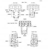 クランクケースボルトパターン ZEPHYR(400) 1989(ZR400-C1) - Kawasaki純正部品