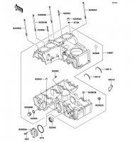 クランクケース ZEPHYR(400) 1989(ZR400-C1) - Kawasaki純正部品