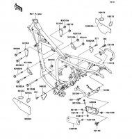 フレームフィッティング SUPER SHERPA 1997(KL250-G1) - Kawasaki純正部品