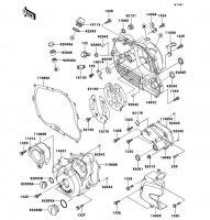 エンジンカバー SUPER SHERPA 1997(KL250-G1) - Kawasaki純正部品