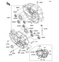 クランクケース SUPER SHERPA 1997(KL250-G1) - Kawasaki純正部品