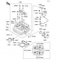 シリンダヘッド SUPER SHERPA 1997(KL250-G1) - Kawasaki純正部品