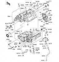 クランクケース ER-4N 2011(ER400BBF) - Kawasaki純正部品
