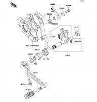 ギヤチェンジメカニズム ER-4N 2011(ER400BBF) - Kawasaki純正部品