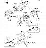 ターンシグナル ER-4N ABS 2013(ER400CDF) - Kawasaki純正部品