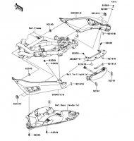 シートカバー ER-4N ABS 2013(ER400CDF) - Kawasaki純正部品