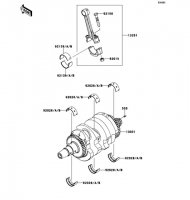 クランクシャフト ER-4N ABS 2013(ER400CDF) - Kawasaki純正部品