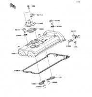 シリンダヘッドカバー ER-4N ABS 2013(ER400CDF) - Kawasaki純正部品