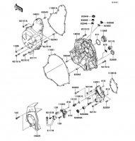 エンジンカバー ER-4N ABS 2011(ER400CBF) - Kawasaki純正部品