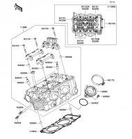 シリンダヘッド ER-4N ABS 2011(ER400CBF) - Kawasaki純正部品