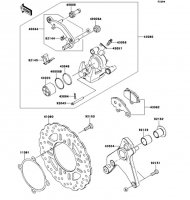 Rear Brake Ninja 1000 2013(ZX1000GDF) - Kawasaki純正部品