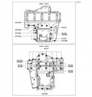 Crankcase Bolt Pattern Ninja 1000 2011(ZX1000GBF) - Kawasaki純正部品