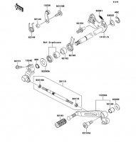 Gear Change Mechanism Ninja 1000 2011(ZX1000GBF) - Kawasaki純正部品