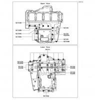 Crankcase Bolt Pattern Ninja 1000 ABS 2011(ZX1000HBF) - Kawasaki純正部品