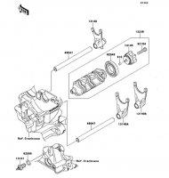 Gear Change Drum/Shift Fork(s) Ninja 1000 ABS 2011(ZX1000HBF) - Kawasaki純正部品