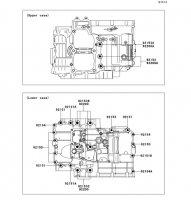 Crankcase Bolt Pattern Ninja 650 2012(EX650ECS) - Kawasaki純正部品