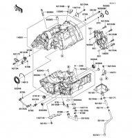 Crankcase Ninja 650 2012(EX650ECS) - Kawasaki純正部品
