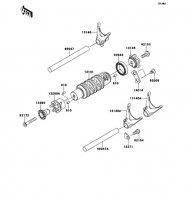 Gear Change Drum/Shift Fork(s) Ninja 650 2012(EX650ECS) - Kawasaki純正部品
