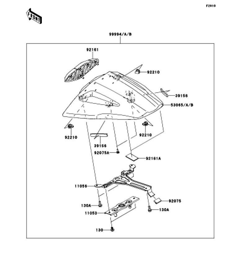 Accessory(Single Seat Cover) Ninja ZX-10R 2011(ZX1000JBF