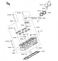 Cylinder Head Ninja ZX-10R 2011(ZX1000JBF) - Kawasaki純正部品