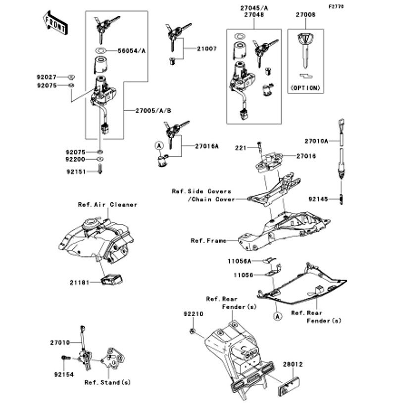 Ignition Switch Ninja ZX-10R ABS 2012(ZX1000KCF