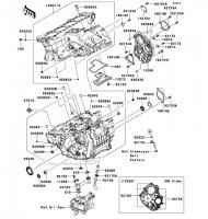 Crankcase Ninja ZX-10R ABS 2011(ZX1000KBF) - Kawasaki純正部品
