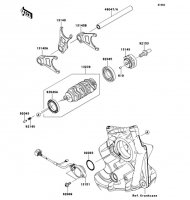 Gear Change Drum/Shift Fork(s) Ninja ZX-10R ABS 2011(ZX1000KBF) - Kawasaki純正部品