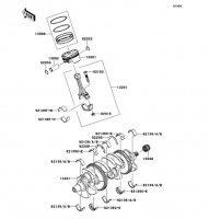 Crankshaft/Piston(s) Ninja ZX-10R ABS 2011(ZX1000KBF) - Kawasaki純正部品