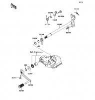 Gear Change Mechanism Ninja ZX-14R 2012(ZX1400ECF) - Kawasaki純正部品
