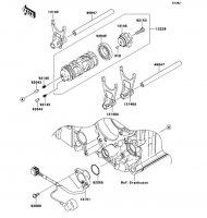 Gear Change Drum/Shift Fork(s) Ninja ZX-14R 2012(ZX1400ECF) - Kawasaki純正部品