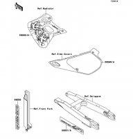 デカール(グリーン)(KDX250-F4) KDX250SR 1994(KDX250-F4) - Kawasaki純正部品