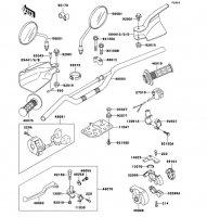 ハンドルバー KDX250SR 1994(KDX250-F4) - Kawasaki純正部品