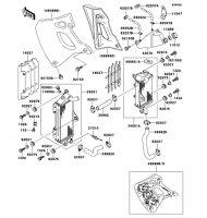 ラジエータ(KDX250-F4) KDX250SR 1994(KDX250-F4) - Kawasaki純正部品