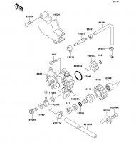 オイルポンプ KDX250SR 1994(KDX250-F4) - Kawasaki純正部品