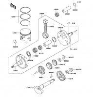 クランクシャフト/ピストン KDX250SR 1994(KDX250-F4) - Kawasaki純正部品