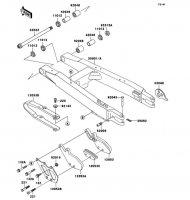 スイングアーム KDX250SR 1992(KDX250-F2) - Kawasaki純正部品