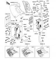ラジエータ(KDX250-F2/F3) KDX250SR 1992(KDX250-F2) - Kawasaki純正部品