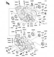 クランクケース KDX250SR 1992(KDX250-F2) - Kawasaki純正部品