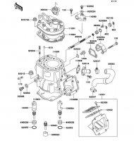 シリンダヘッド/シリンダ KDX250SR 1992(KDX250-F2) - Kawasaki純正部品