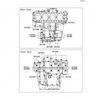 Crankcase Bolt Pattern Ninja ZX-14R ABS 2012(ZX1400FCF) - Kawasaki純正部品