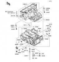 Crankcase Ninja ZX-14R ABS 2012(ZX1400FCF) - Kawasaki純正部品