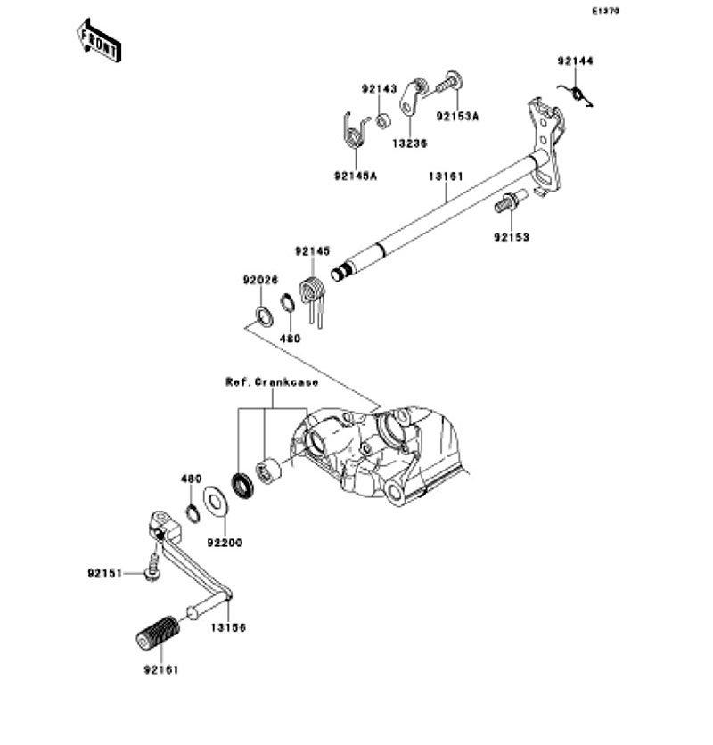 Gear Change Mechanism Ninja ZX-14R ABS 2012(ZX1400FCF