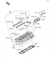 Cylinder Head Ninja ZX-14R ABS 2012(ZX1400FCF) - Kawasaki純正部品
