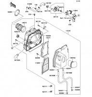 エアクリーナ 250TR 2012(BJ250KCF) - Kawasaki純正部品