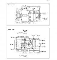 Crankcase Bolt Pattern ER-6N 2012(ER650ECF) - Kawasaki純正部品