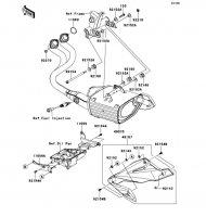 Muffler(s) ER-6N 2012(ER650ECF) - Kawasaki純正部品